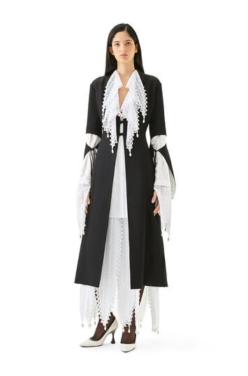 LOEWE Lace Petal Skirt ホワイト front