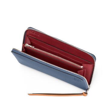 LOEWE Billetero C/Cremallera Azul Varsity/Miel front