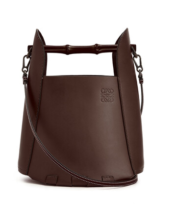 LOEWE バケット バンブー バッグ チェスナット front