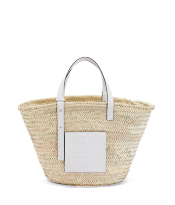 LOEWE Basket Large Bag Natural/White front