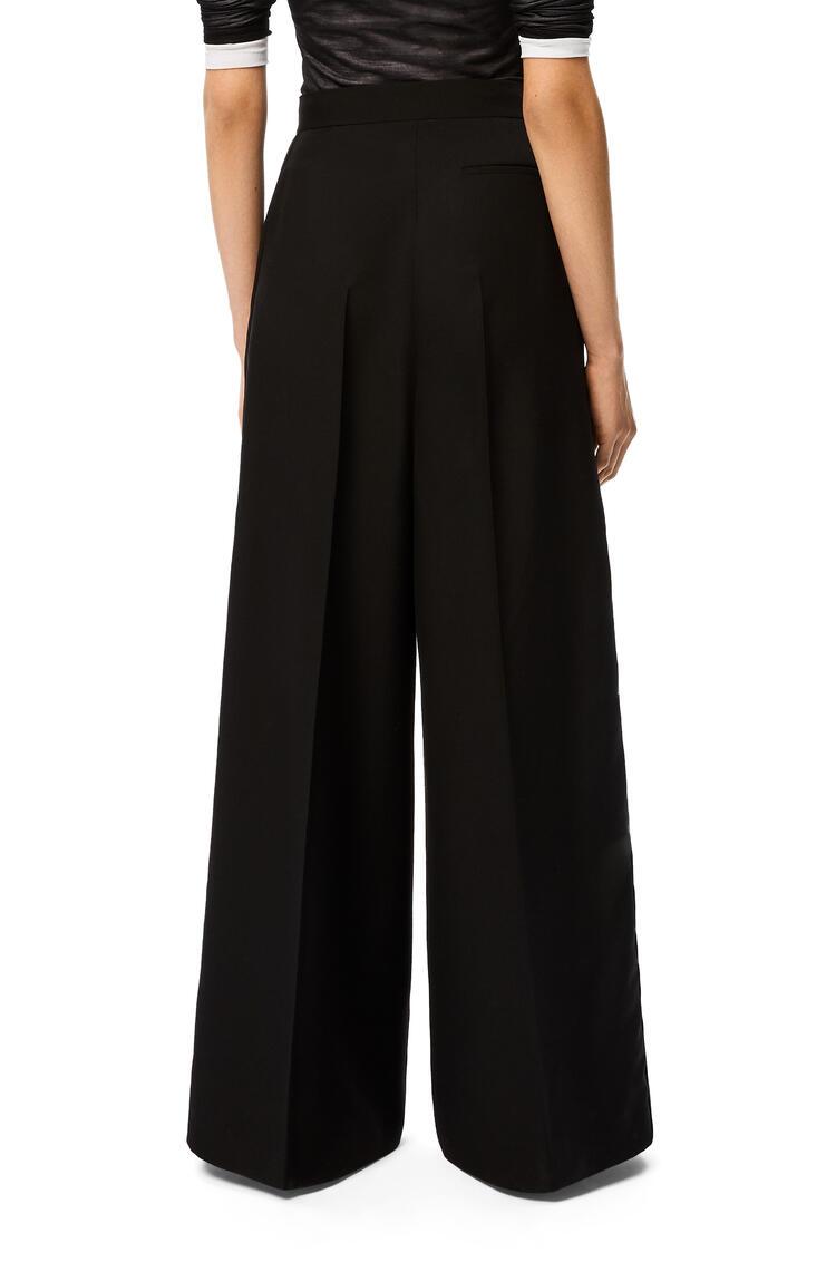 LOEWE High waisted tuxedo trousers in wool Black pdp_rd