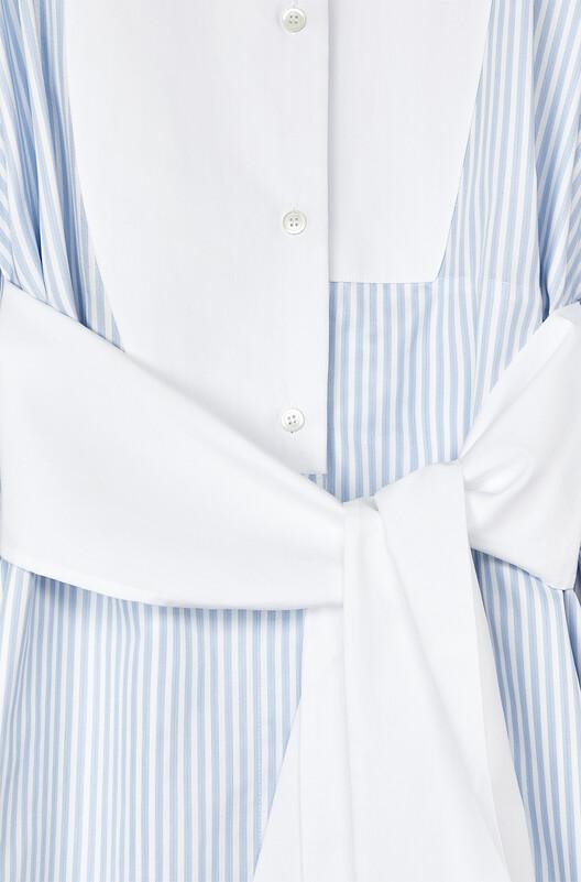 LOEWE Stripe Shirtdress Blue/White front