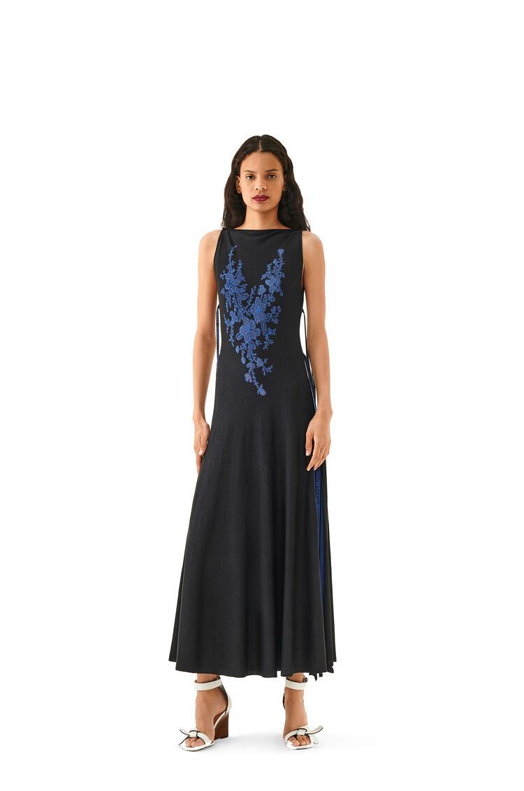LOEWE Lace Knit Dress In Silk Black pdp_rd
