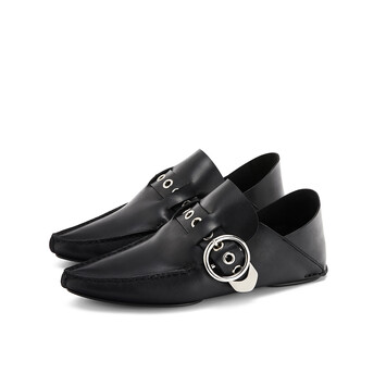 LOEWE Pointy Mocassin Black front