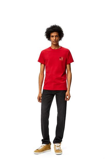 LOEWE Camiseta en algodón con anagrama Rojo pdp_rd