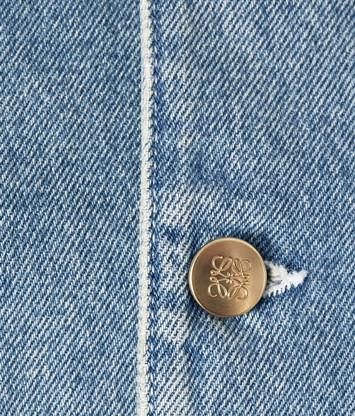 LOEWE Denim Cropped Jacket 靛蓝色 front