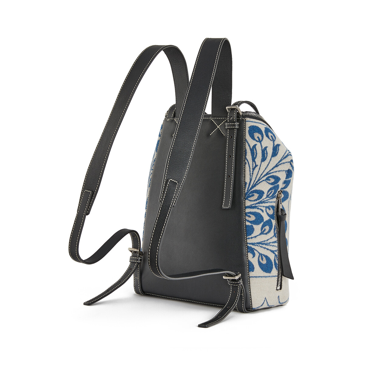 LOEWE Goya Small Backpack Tiles Blue front
