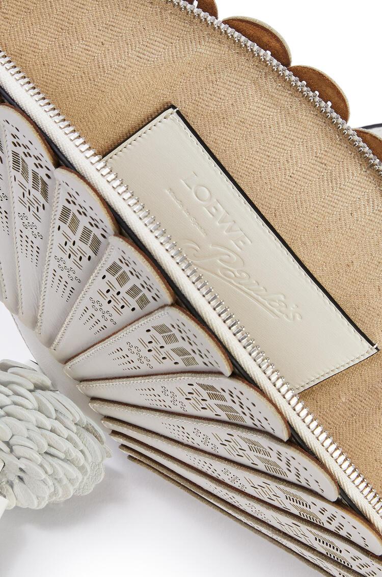 LOEWE Fan Clutch Bag In Box Calfskin White pdp_rd