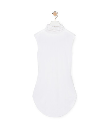 LOEWE High Neck Slvless Top White front