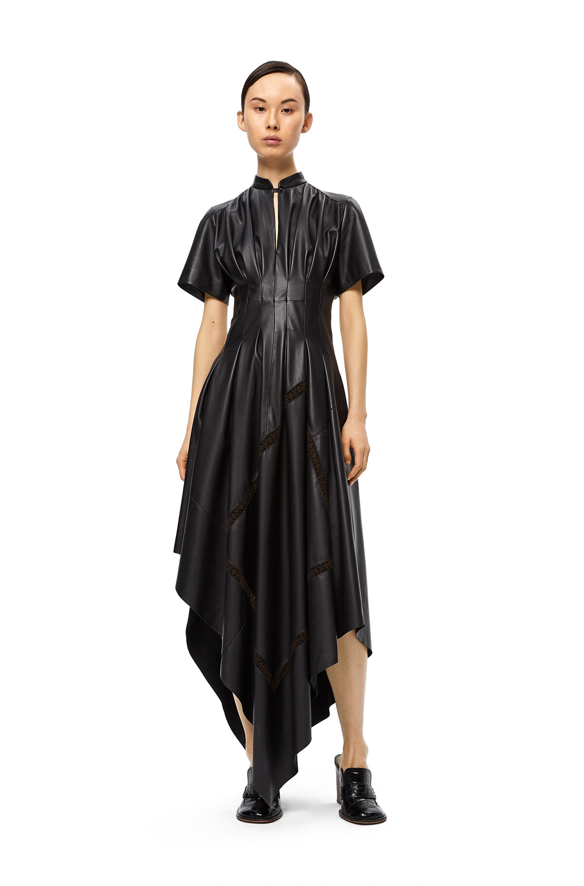LOEWE Short Sleeve Dress Black front