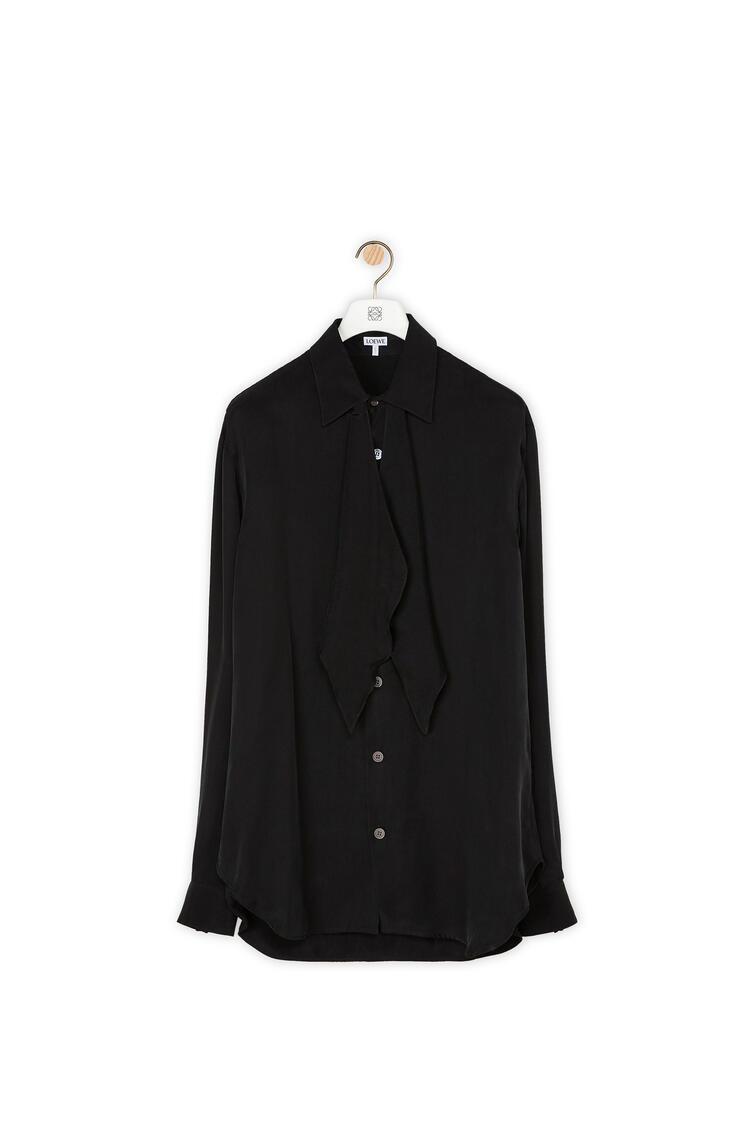LOEWE Tie shirt in viscose Black pdp_rd