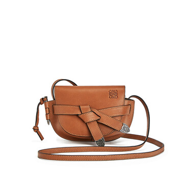 LOEWE Gate Western Mini Bag Walnut front
