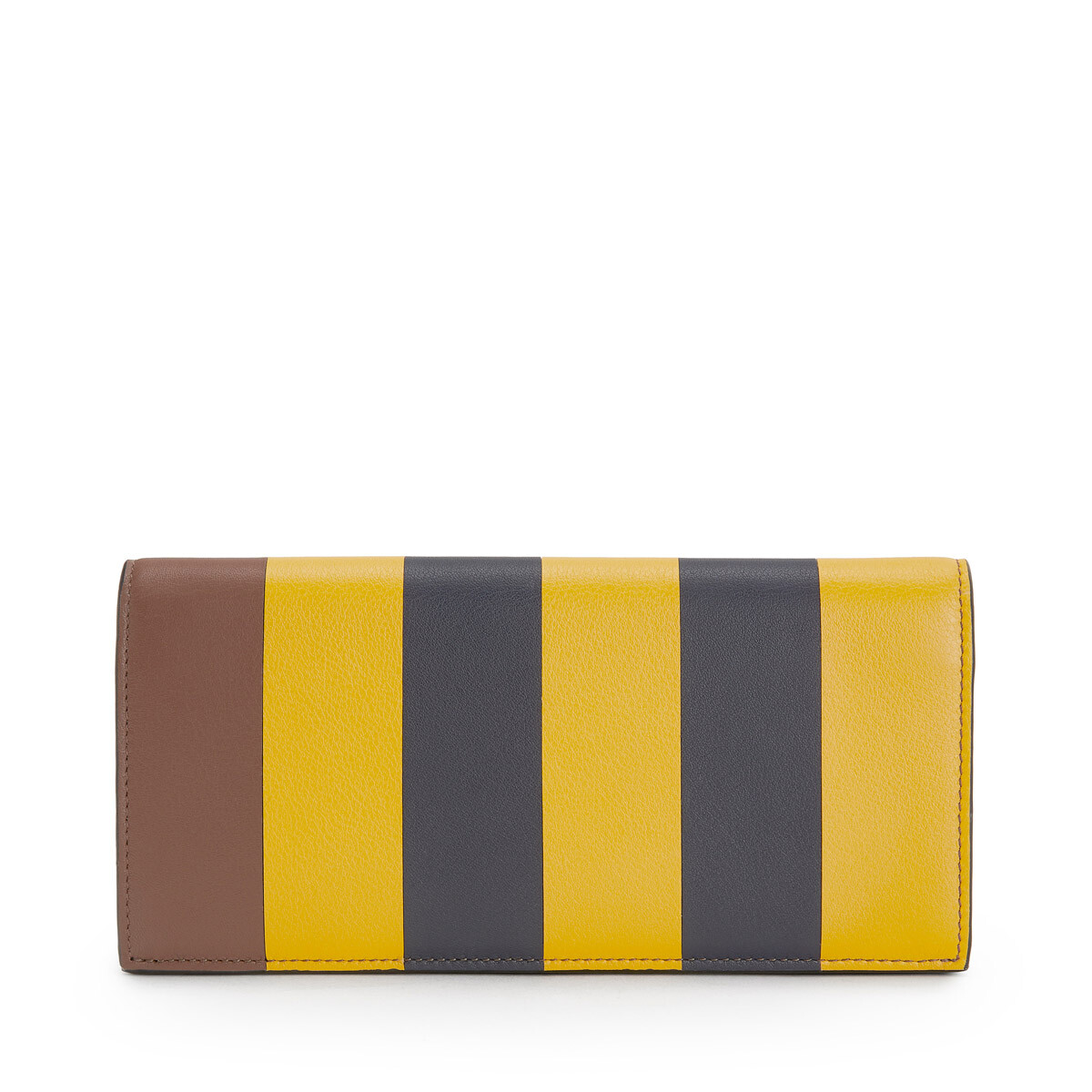 LOEWE Cartera Horizontal Stripes Amarillo Mango/Marine Azul front