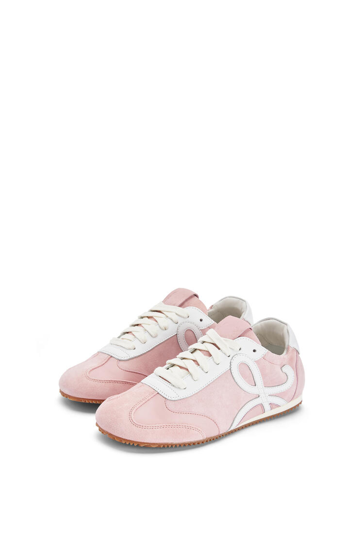 LOEWE 牛皮革芭蕾舞跑鞋 Pink/White pdp_rd
