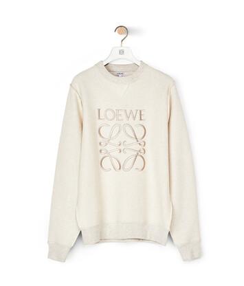 LOEWE Anagram Sweatshirt Ecru/Black front
