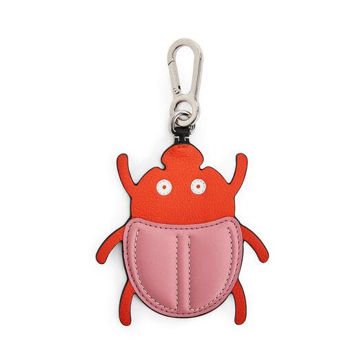 LOEWE Escarabajo Charm Rosa/Naranja front