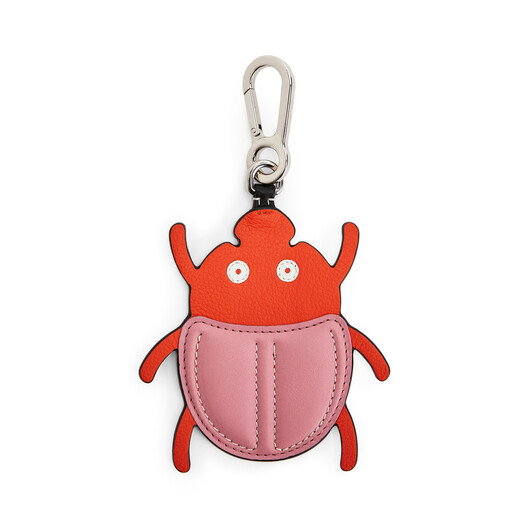 LOEWE Beetle Charm Pink/Orange front