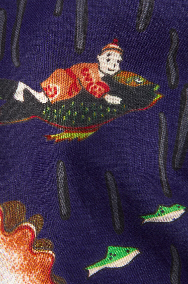 LOEWE 50 cm x 50 cm bandana in mermaid cotton 藍色 pdp_rd