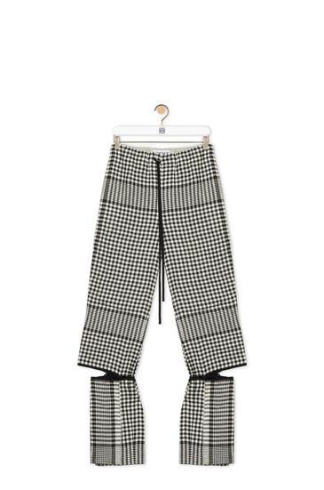 LOEWE Rib tie cut trousers in striped linen Black/White pdp_rd