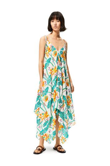 LOEWE Tank Dress In Waterlily Silk Multicolor front