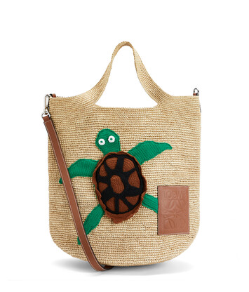 LOEWE Bolso Paula's Slit Turtle Natural front