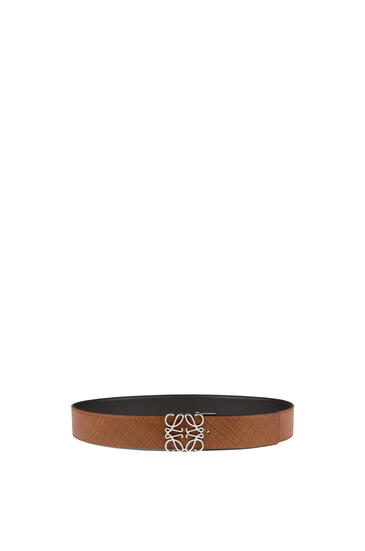 LOEWE Anagram belt in calfskin Dark Brown/Black pdp_rd