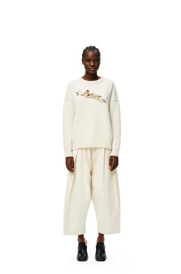 LOEWE LOEWE embellished sweater in wool White/Camel pdp_rd