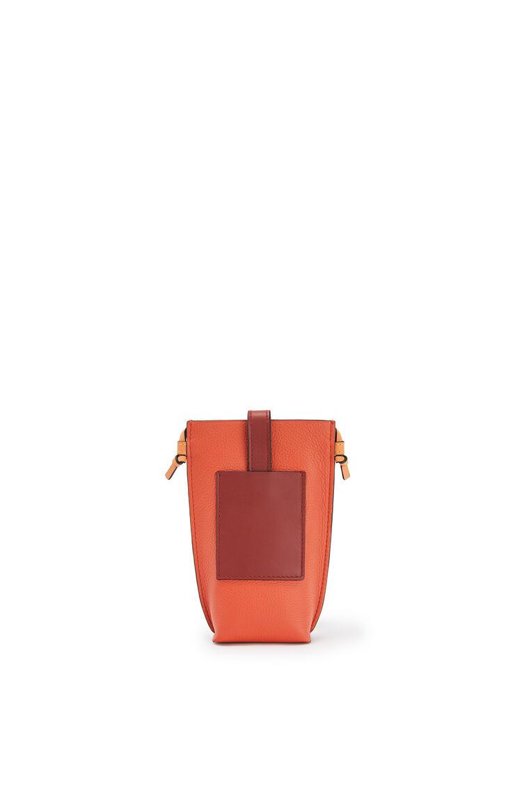 LOEWE 柔软粒面小牛皮 Pocket 手袋 Coral/Soft Apricot pdp_rd
