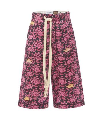 LOEWE Paula Print Shorts Black/Pink front