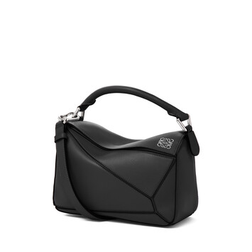 LOEWE Puzzle Small Bag Black front
