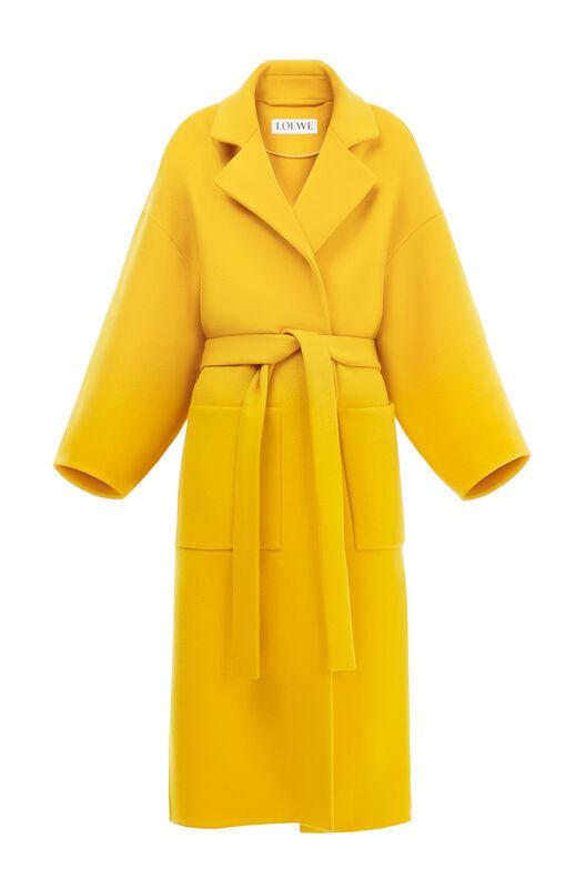 LOEWE Oversize Belted Coat Amarillo all