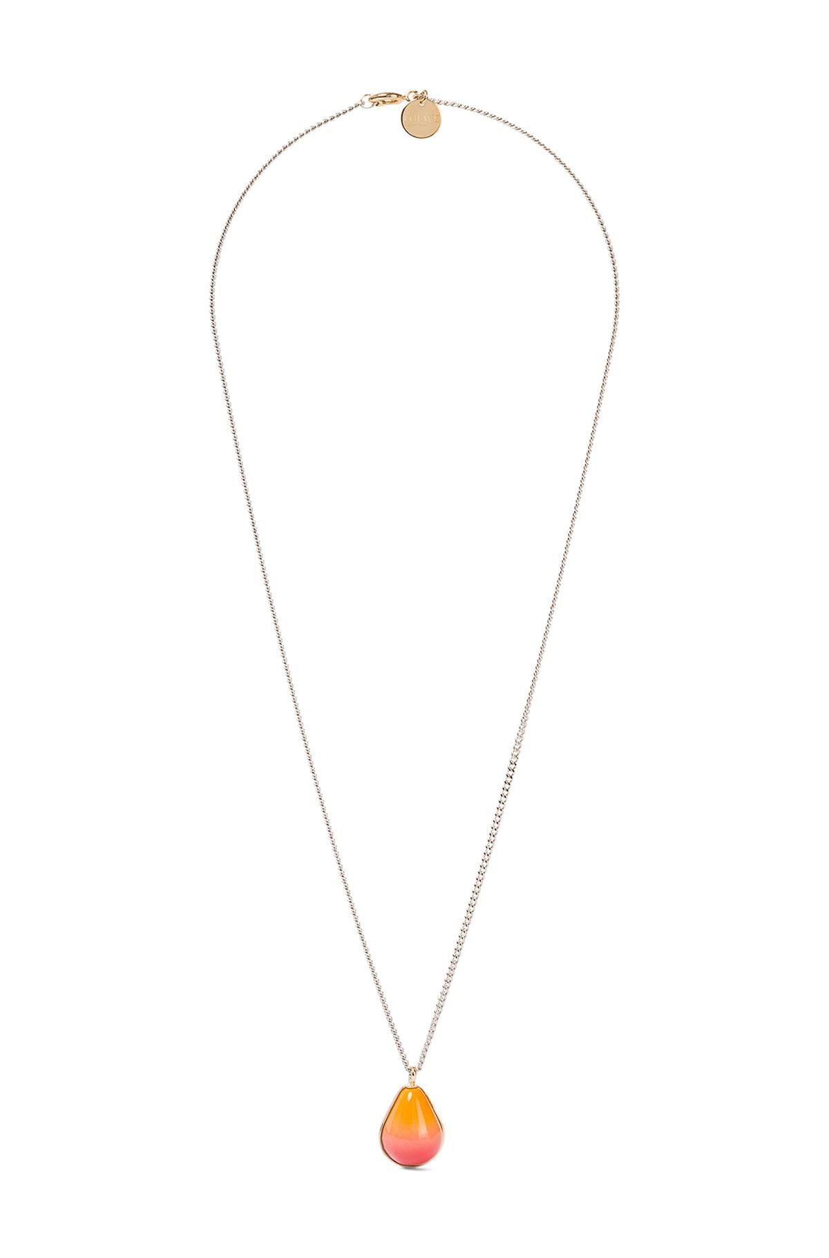 LOEWE Collar Vermeer Oro/Naranja front