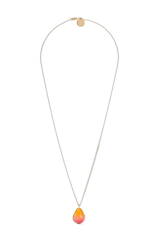 LOEWE Vermeer Necklace Gold/Orange all