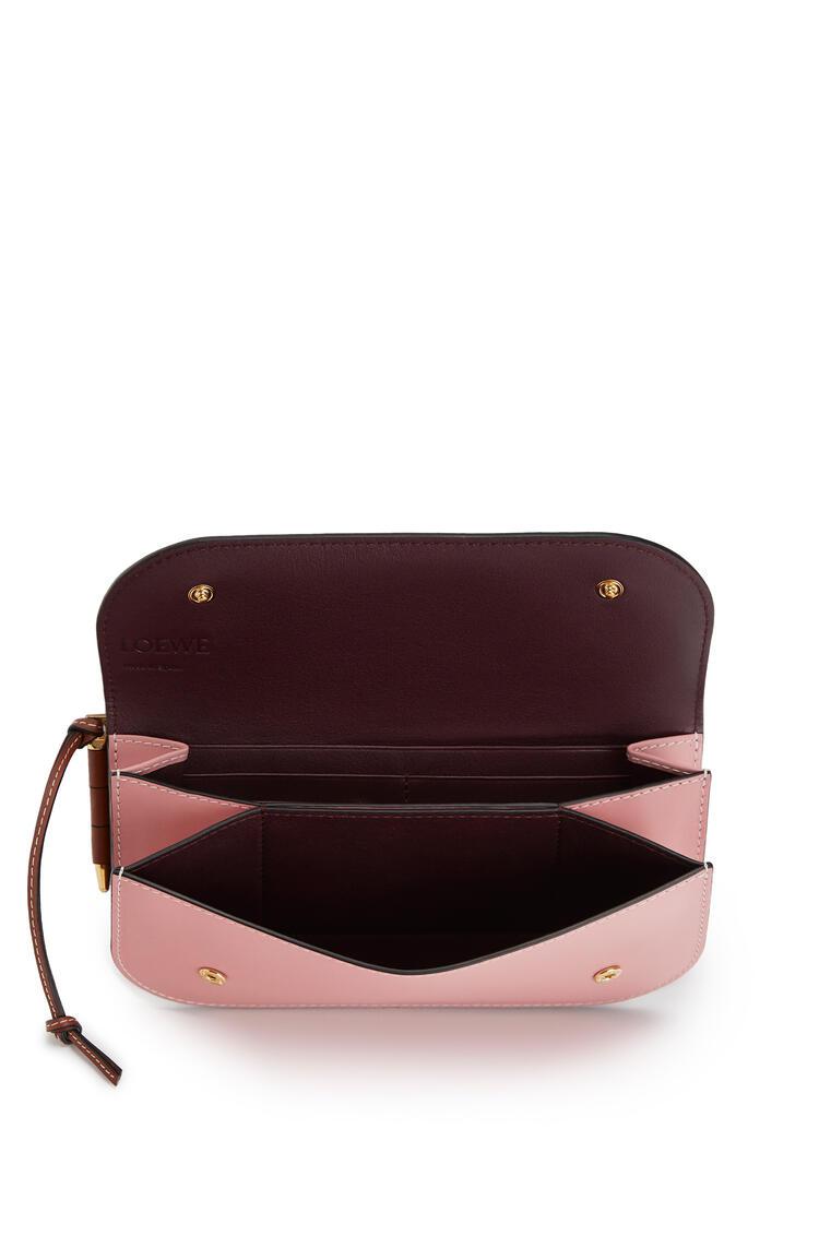 LOEWE Gate Continental wallet in smooth calfskin Tan/Medium Pink pdp_rd