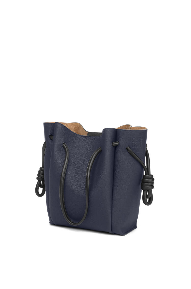 LOEWE Small Flamenco Tote Bag In Soft Grained Calfskin Midnight Blue/Black pdp_rd