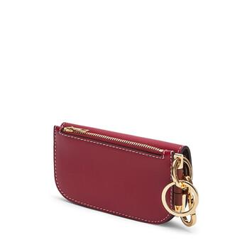 LOEWE Gate Mini Wallet Raspberry/Wine front