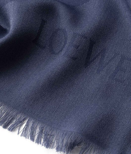 LOEWE 140X140 Scarf Giant Anagram 蓝色 all