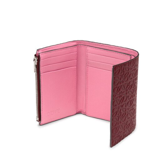 LOEWE Small Vertical Wallet Raspberry front