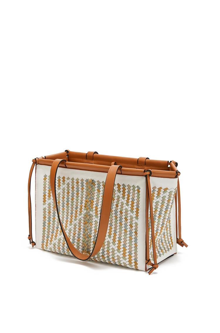 LOEWE Bolso Cushion Tote pequeño en piel de ternera y búfalo Miel/Multicolor pdp_rd