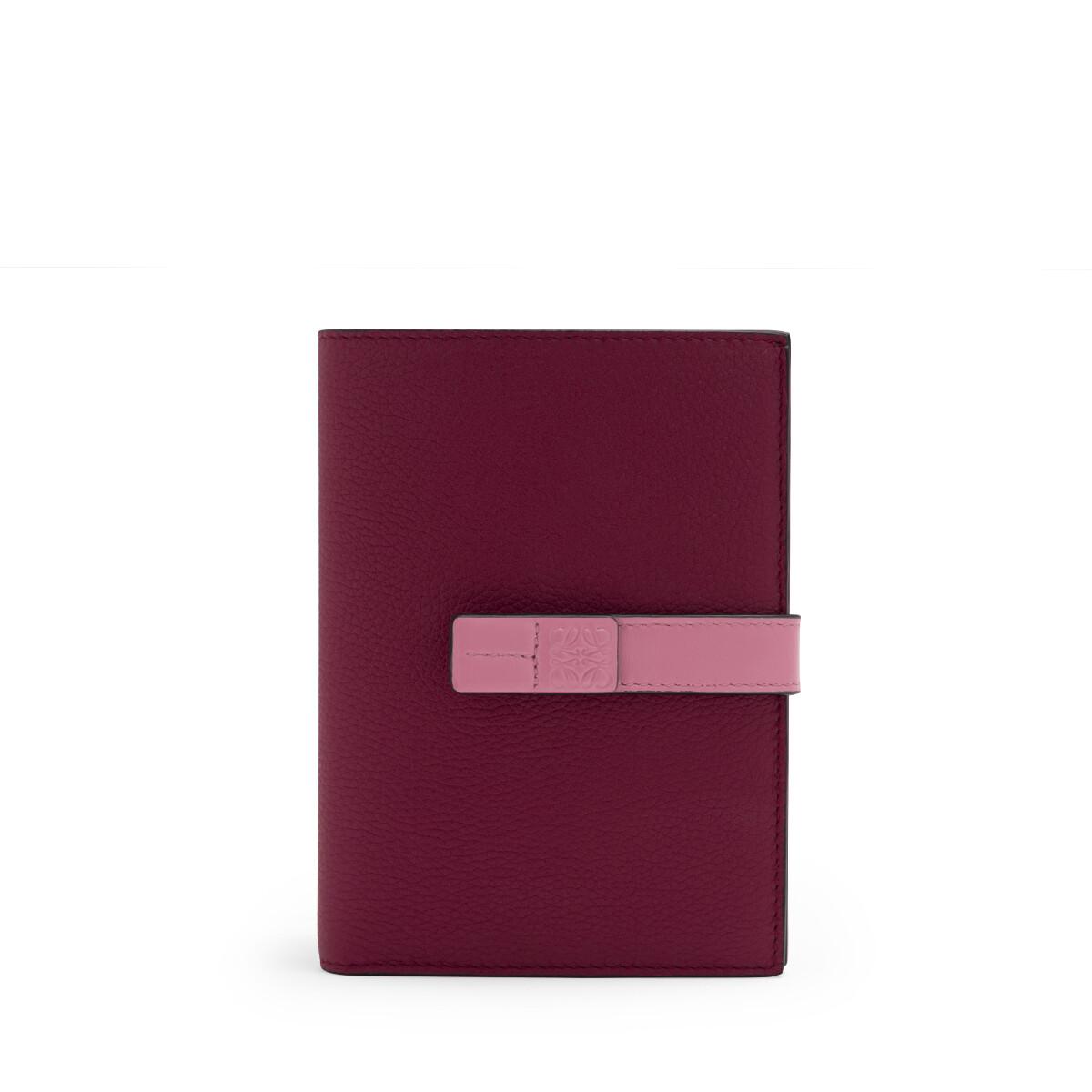 LOEWE Medium Vertical Wallet Wild Rose/Raspberry front
