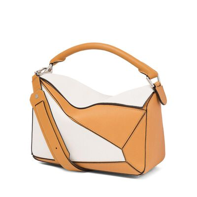 LOEWE Puzzle Bag Soft White/Amber front