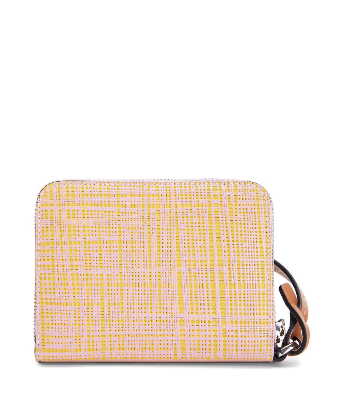 LOEWE Strap 6 Cards Wallet Yellow/Pink front