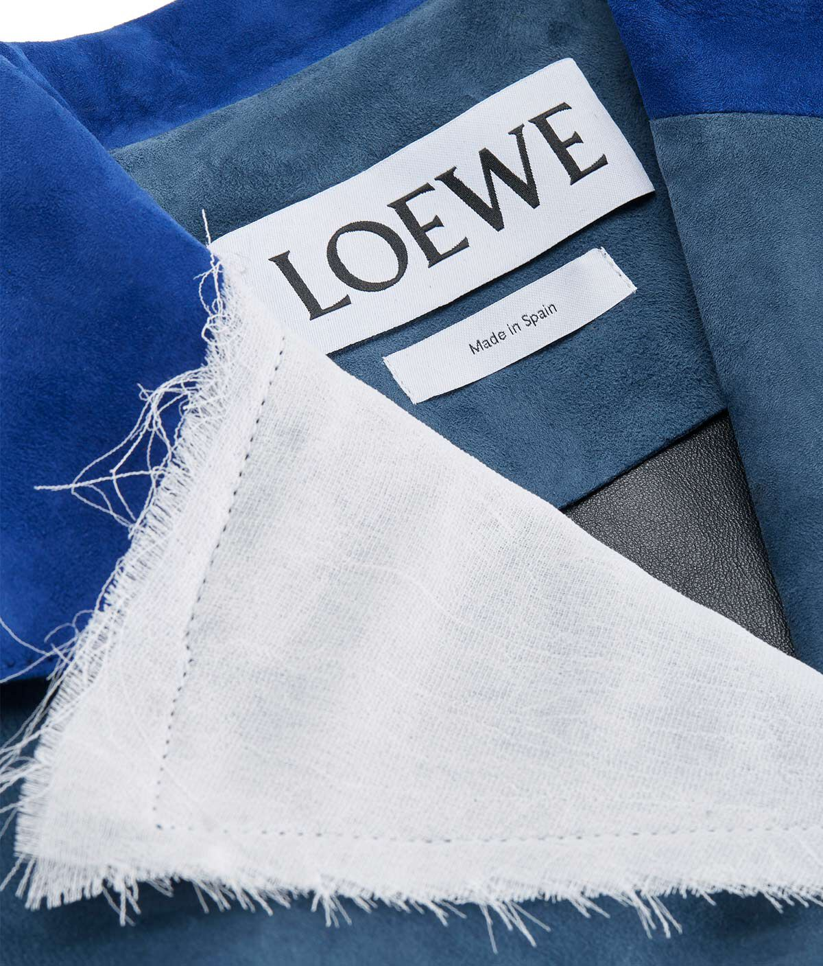 LOEWE Jacket Suede Panels & Textile 蓝色/白色 all