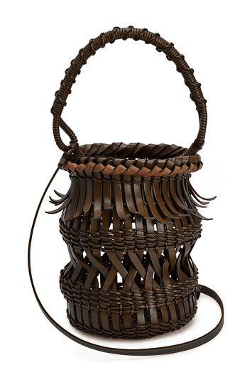 LOEWE Bucket Fringes 栗棕色 front