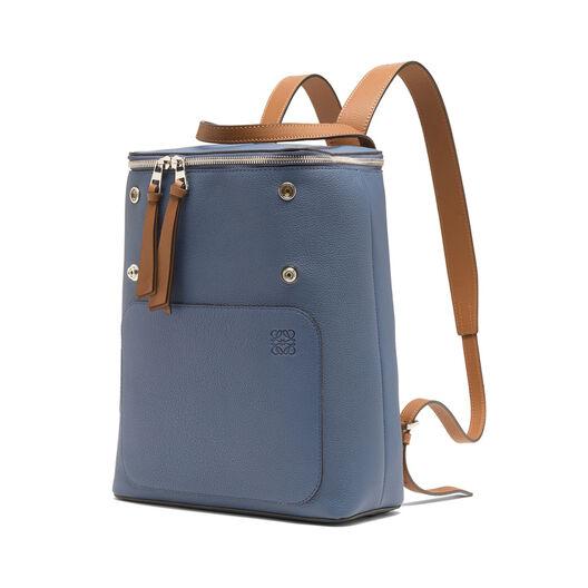 LOEWE Goya Small Backpack Varsity Blue/Tan all