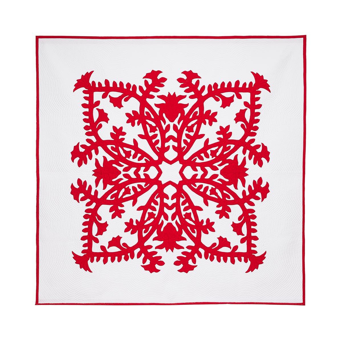 LOEWE 230X230 Pele & Lehua毯子 红色 front