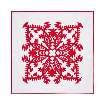LOEWE 230X230 Blanket Pele & Lehua Red front