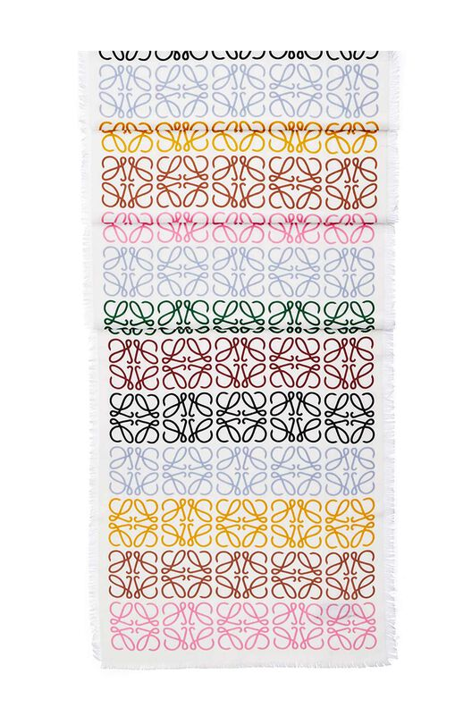 LOEWE 45X200 Scarf Anagram In Lines multicolor/white front