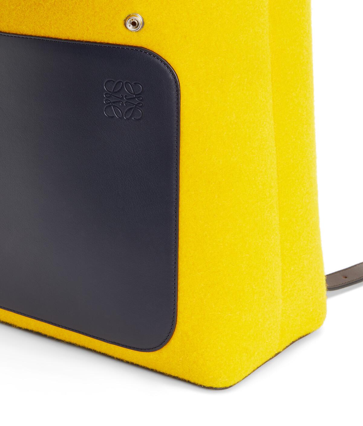 LOEWE Goya Backpack Marine/Yellow front