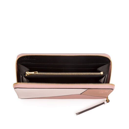 LOEWE Puzzle Zip Around Wallet Blush Multitone all